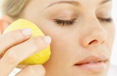 Use lemons to Banish Shine on your Face (and help clear up acne)