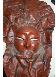 Rare Leather Carnivale Mask Art Vintage 1980s by ArtBarn on Etsy