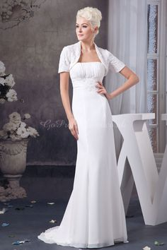 wedding dress,wedding dresses,wedding dress,wedding dresses mermaid/trumpet chiffon strapless empire sweep/brush train zipper sleeveless beading ruching wedding dress with a wrap