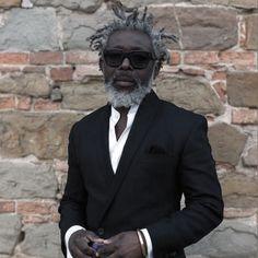 60 Beard Styles For Black Men - Masculine Facial Hair Ideas Goatee Styles, Beard Styles For Men, Hair And Beard Styles, Hair Styles, Grey Hair Beard, Men With Grey Hair, Black Men Beards, Beard Game, Beard Look