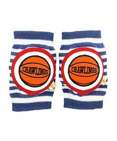 Blue & White Basketball Kneepads by Crawlings #zulily #zulilyfinds