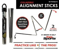 Collapsible Golf Alignment Training Sticks by Pride. $12.99. Want to hit like the Pros? Use the same training aide that the PGA Pros use. A variety of drills can be practiced using PrideSports alignment sticks. The collapsible sticks will fit in any golf bag or closet, and come with a reusable plastic tube for storage. PrideSports collapsible Alignment Sticks are a multipurpose golf training aid designed for beginner players as well as more advanced golfers. Not only are these ...