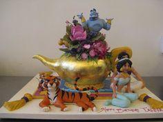 Aladdin Cake by Sylvia Weinstock Cakes Aladdin Cake, Aladdin Party, Cupcakes, Cupcake Cakes, Beautiful Cakes, Amazing Cakes, Jasmine Cake, Movie Cakes, Fantasy Cake