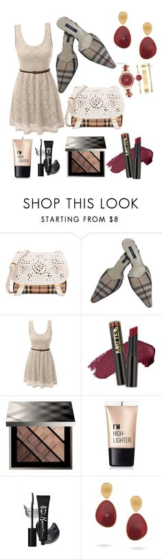 """leisure lace"" by kkornak on Polyvore featuring Burberry, LE3NO, L.A. Girl, Charlotte Russe, Marco Bicego and Anne Klein"