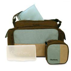 Gerber 4 in 1 Diaper Bag Brown