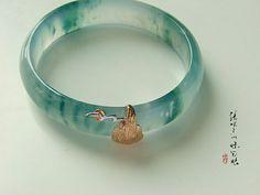 Bali Jewelry, Cute Jewelry, Jewelry Art, Jewelry Accessories, Fashion Jewelry, Jewelry Design, Jade Bracelet, Gemstone Bracelets, Sterling Silver Bracelets