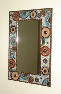 Hand crafted glass and ceramic mosaics, muni's mosaics, mosaic art, peterborough Mirror Mosaic, Mosaic Wall, Mosaic Glass, Mosaic Tiles, Glass Art, Fused Glass, Stained Glass, Wall Art Crafts, Mosaic Crafts