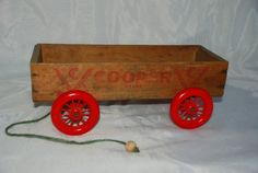 Vintage Wooden Cheese Box Display Wagon by jayemkay on Etsy, $21.95