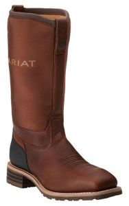 Ariat Men's Hybrid All Weather Oiledy Brown with Neoprene Top Square Steel Toe Workboots | Cavender's