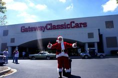 Even Santa holds his events at Gateway Classic Cars.