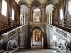 The Royal Palace at Caserta. Italy. 1780.     http://hadrian6.tumblr.com