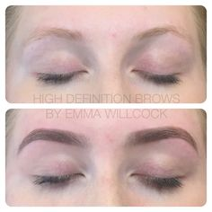 High Definition Brows (formerly HD Brows) before & after by ELITE Trainer & Stylist Emma Willcock.