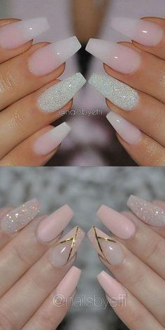 2016 Nail Trends 101 Pink Nail Art Ideas - New Year Nails - # Ideas # . Trendy Nails, Cute Nails, Hair And Nails, My Nails, Glitter Accent Nails, Zebra Nails, Star Nails, Glitter Nail Art, Nails 2016