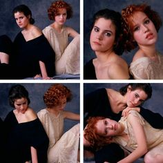 Ally Sheedy and Molly Ringwald The Breakfast Club. Molly Ringwald, Ella Enchanted, Brat Pack, 80s And 90s Fashion, Hollywood, Bae, The Breakfast Club, Old Movies, Iconic Movies