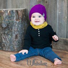 Tuque RÉVERSIBLE hyper branchée en tricot pour bébés/enfants