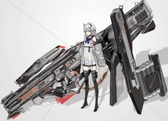 Fantasy Character Design, Character Design Inspiration, Character Art, Anime Weapons, Fantasy Weapons, Manga Girl, Anime Art Girl, Anime Arms, Anime Military