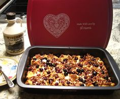 French toast egg bake in a #ThatsMyPan 9x13 Non-stick Lasagna/Casserole Pan