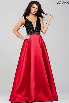 Black/Fuchsia Sleeveless A-line Prom Dress 31118
