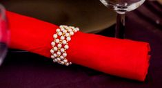 Beaded napkin ring tutorial | Make napkin ring |