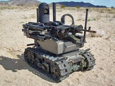 S Marine Corps wants new unmanned tank The Marine Corps Warfighting Laboratory hopes that a machine gun toting robot can one day provide more firepower to foot patrols. Qinetiq's Modular Advanced Armed Robotic System (MAARS) a tracked [. Military Robot, Military Humor, Military Weapons, Autonomous Robots, Micro Drone, Sci Fi Weapons, Military Equipment, Panzer, Armored Vehicles