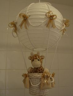 Oh. My. Goodness... Nursery lighting - hot air balloon- so easy to make!