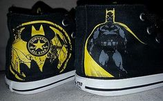 95635b33a60c HTF Converse 10 toddler shoes Batman black yellow unisex boys girls