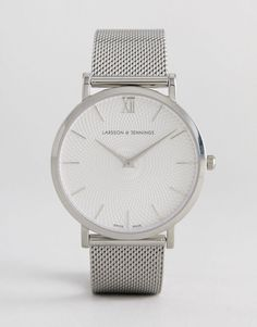 a2d0ef1ee47 Larsson   Jennings LGN40 Lugano   Norse Sloane Mesh Watch In Silver