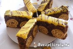 Bicikli szelet Condensed Milk Cake, Torte Recepti, Eat Pray Love, Fancy Desserts, Food Festival, Cake Cookies, Cupcakes, Nutella, Cookie Recipes