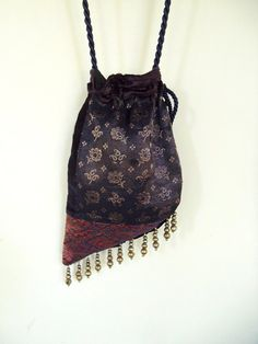 Patchwork Gypsy Velvet Bag Beads  Bohemian  Bag  by piperscrossing, $40.00