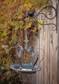 Our Hanging Crown Bird Feeder can also serve as a bird bath, candle holder or a place for trinkets. See ideas for decorating vintage at Antique Farmhouse! Antique Farmhouse, Farmhouse Decor, Vintage Birds, Yard Art, Garden Projects, Garden Inspiration, Bird Houses, Bird Feeders, Outdoor Gardens