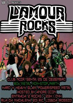 L'AMOUR ROCKS - 80s Metal Non-Stop Party Evento: https://www.facebook.com/events/1659856480955650/ Sexta 25 de Dezembro #HardRock #Heavymetal #PowerMetal #SpeedMetal #GlamRock #GlamMetal #80sMetal