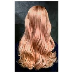 Rosegold balayage for blond hair