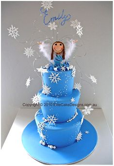 winter wonderland themed party | Winter Wonderland novelty birthday cake with finely and uniquely hand ...