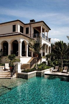 Hopefully move to Miami after already working for some plastic surgeons and hopefully have enough money to buy a nice villa in South Beach pool backyard Architecture Architecture Design, Miami Architecture, Architecture Interiors, Mediterranean Homes, Mediterranean Architecture, Spanish Architecture, Colonial Architecture, Classic Architecture, House Goals