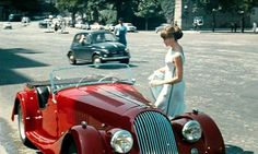 """1962 Morgan Plus 4 in """"The Man From Rio"""" with Jean Paul Belmondo and Francoise Dorleac"""