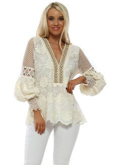 Stylish designer Laurie & Joe cream tops available online now at Designer Desirables. Browse all Laurie & Joe tops delivered Free & free returns Cream Lace Top, Going Out Tops, Beaded Top, Lace Tops, Beachwear, Skinny Jeans, Glamour, Stylish, Applique