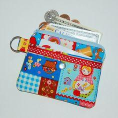RUSSIAN DOLLS PATCHWORK - 2 Pocket Small Kawaii Pouch