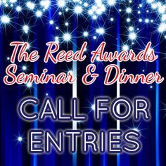 6 days left to submit your entries for the 2013 Reed Awards. Enter today at www.TheReedAwards.com!