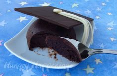 Graduation party flourles chocolate cake graduation cap