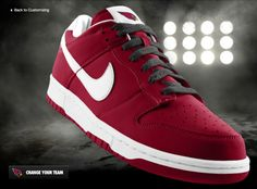 Custom Arizona Cardinals Sneaker by Nike