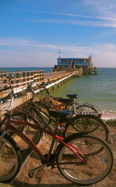 It's the most ideal place to bike ride Rod and Reel Pier, Anna Maria Island, photo by bittersweethouse Family Vacation Spots, Vacation Places, Vacation Destinations, Vacation Ideas, Beautiful Places To Live, Most Beautiful Beaches, Old Florida, Florida Vacation, Bradenton Beach