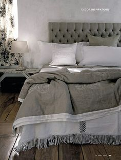 this picture makes me sleepy ... color scheme could also be soft grays and crips…