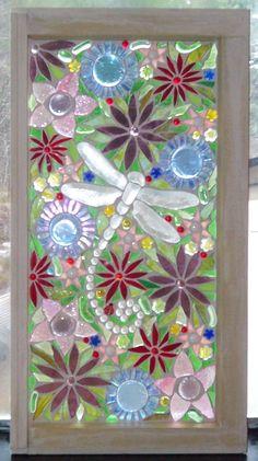 Glass mosaic on old window