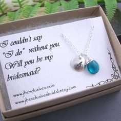 set of 8 bridesmaid gift set - personalized - sterling silver hand stamped monogram initial necklace with thank you card .. n100
