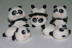 pandas, Polymer clay, porcelana fria, masa flexible, biscuit, pasta francesa…