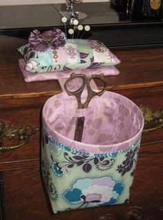Sew In Style Thread Catcher with Detachable Pincushion. $23.95, via Etsy.