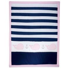 Striped whale comforter