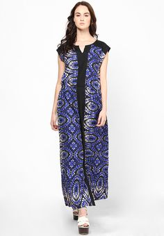 777f9cf66bd Buy MIAMINX Blue Colored Printed Maxi Dress Online - 2876658 - Jabong
