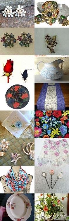 Flowers by TEMPT Team by Randy and Lynn on Etsy--Pinned+with+TreasuryPin.com