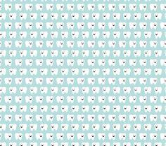 tooth's toof fabric by surlybirdstudio on Spoonflower - custom fabric